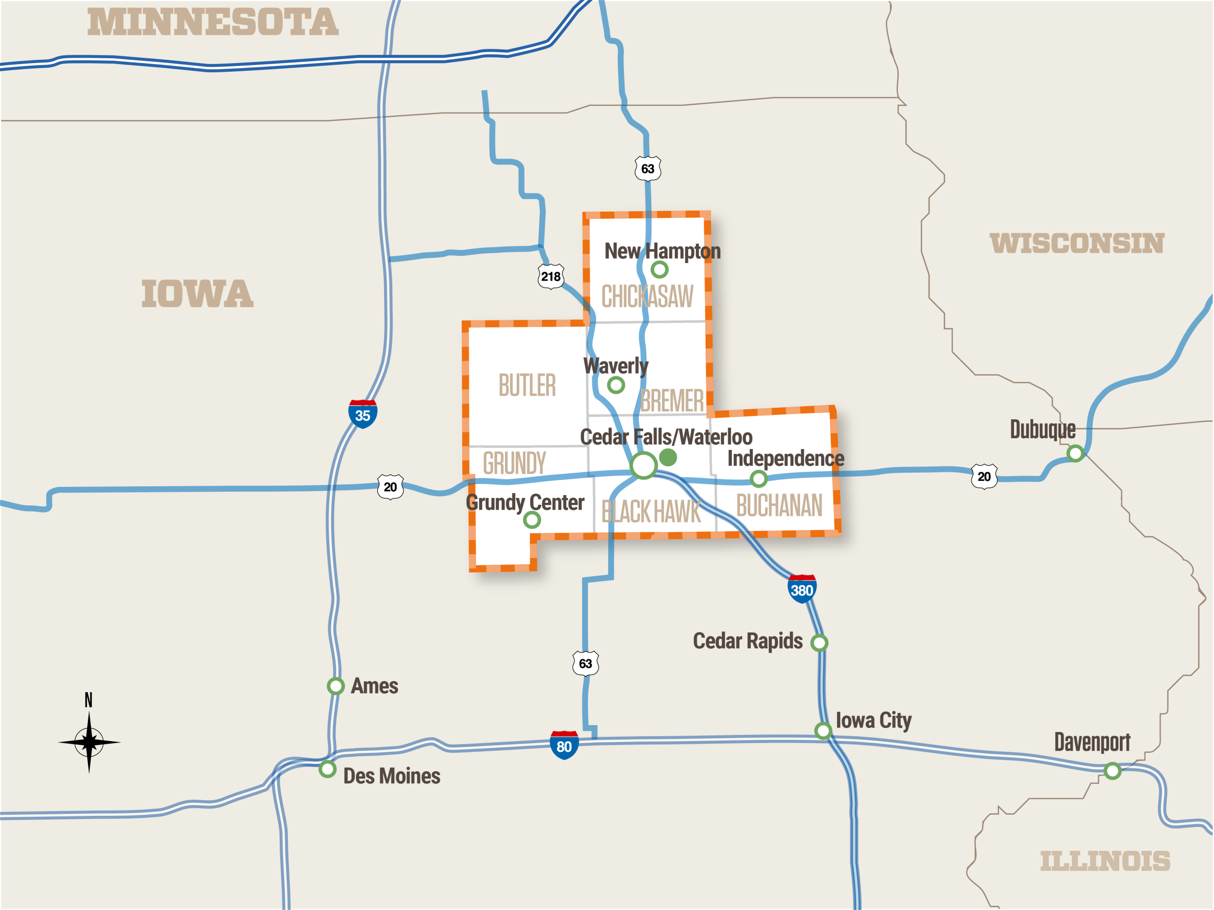 Maps Cedar Valley Regional Partnership