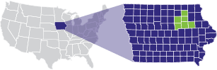 Cedar Valley region in the United States